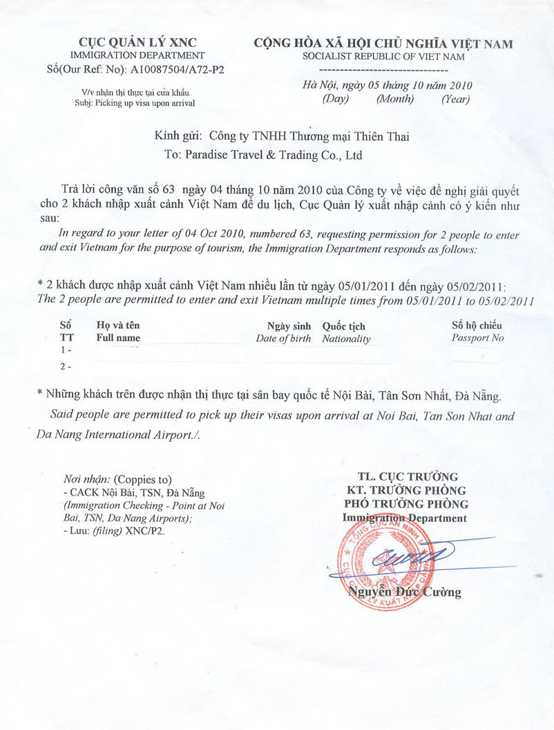 Vietnam visa requirements, vietnam visa on arrival for Tourist