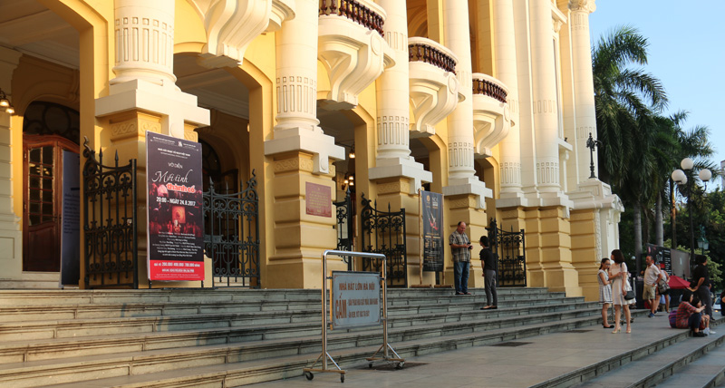 In front of Hanoi Opera House
