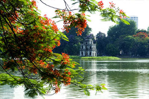Turtle Tower, Hoan Kiem lake, Hanoi