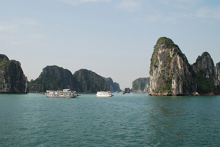 Halong bay is one of the world most  spectacular coastlines