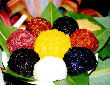Five-colour Steamed Glutinous Rice