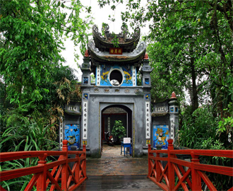 The gate of Ngoc Son Temple