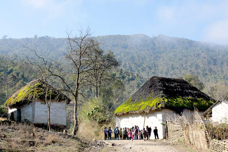 The typical style and the beauty of Ha Nhi ethnic minority people houses