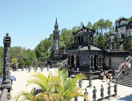 Best of the bunch: Ung Lang Tomb is one of the most impressive sites, featuring combined architecture styles in Hue. The city will start its golden tourism month in September.