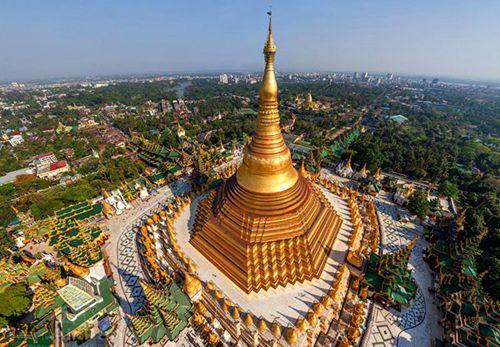 Shwedagon Temple in Yangon, Maha Muni in Mandalay