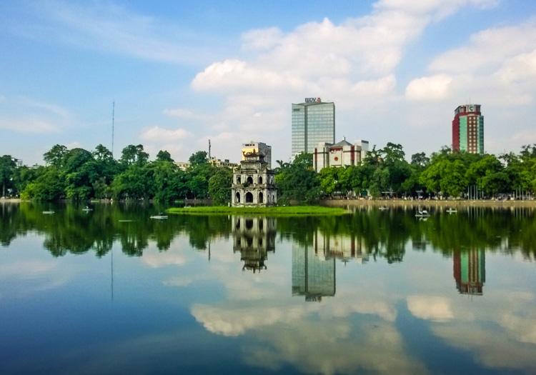 Hoan Kiem Lake, Hanoi down town
