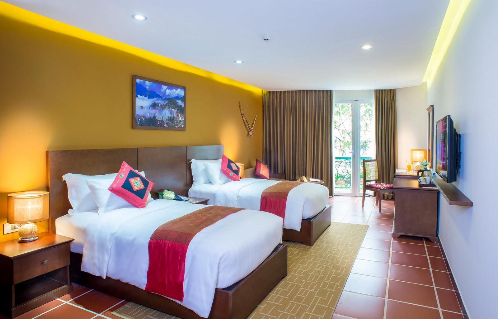 U Sapa Hotel Deluxe Twin room
