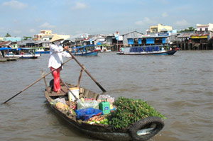 Phongdien floating markets