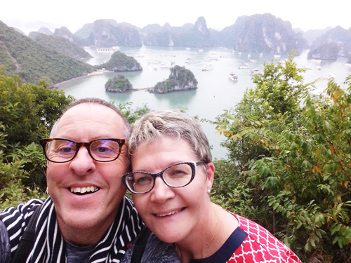 Elderly travellers in Vietnam