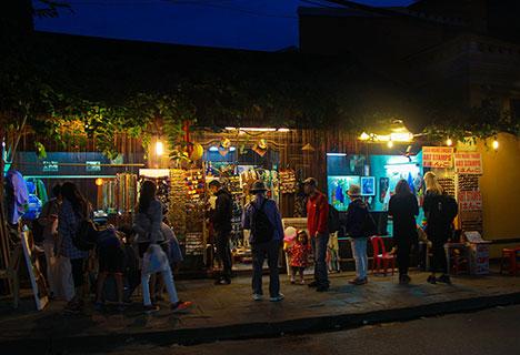 Hanoi on scooter at night
