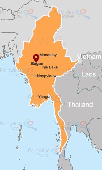 Bagan Location Map