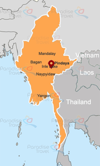 Kalaw & Pindaya location map