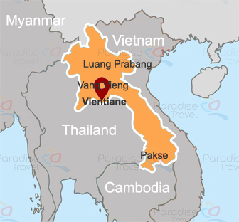 Vientiane Location Map