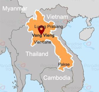 Vang Vieng Location Map