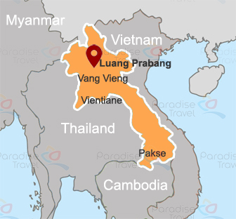 Luang Prabang Location Map