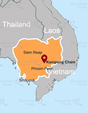 Kampong Cham location map