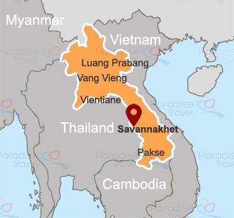 Savannakhet Location Map