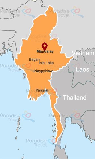 Mandalay Location Map