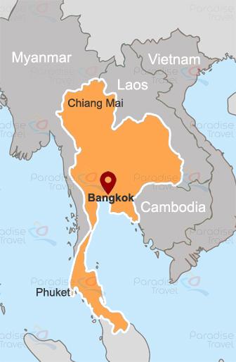 Bangkok location map