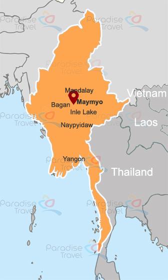 Maymyo location map