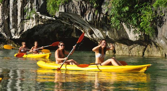 Kayaking in Halong Bay - Gray Line