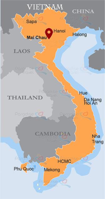 Mai Chau Location Map