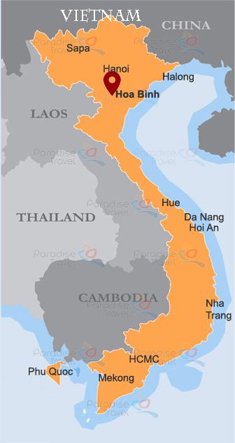 Hoa Binh Location Map