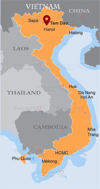Tam Dao Location Map