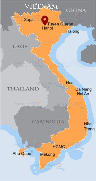 Tuyen Quang Location Map