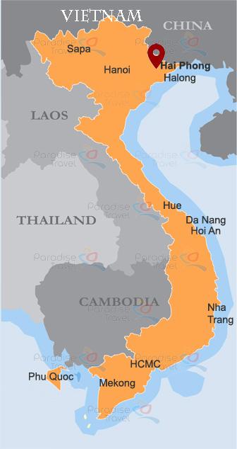 Hai Phong Location Map