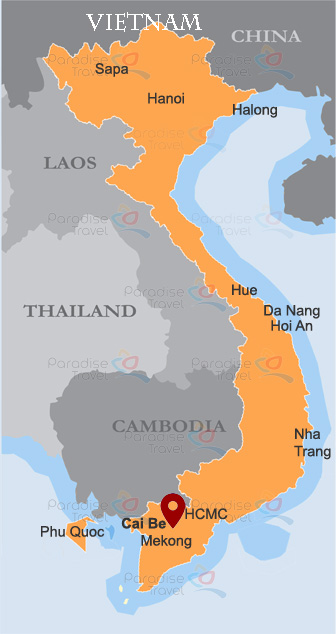 Cai Be map
