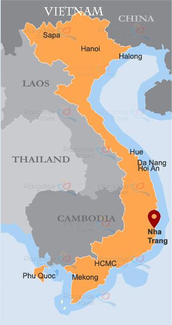 Nha Trang Location Map