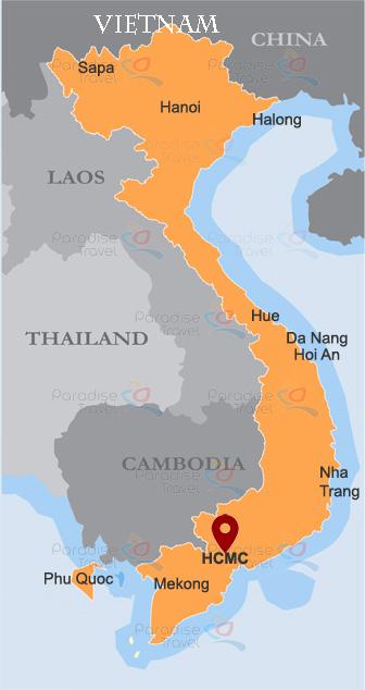 Ho Chi Minh City Location Map