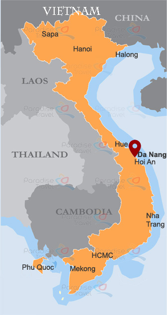 Da Nang location map