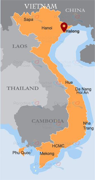 Halong Location Map