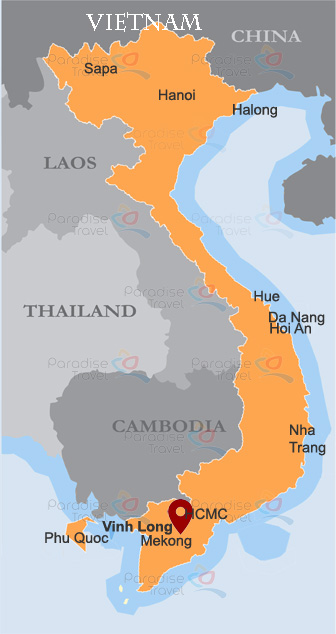 Vinh Long Location Map