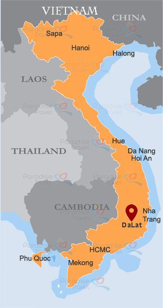 Da Lat location Map