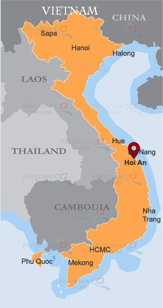 Hoian Location Map