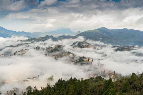 Sapa view from Ham Rong Peak