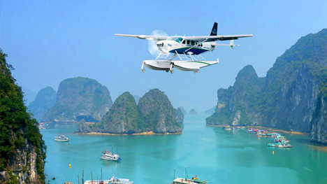 Seaplane over Halong Bay